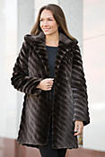 Verity Hooded Canadian Beaver Fur Coat