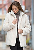 Chiara Canadian Beaver Fur Coat with Fox Fur Trim