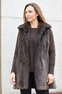 Eden Long-Haired Beaver Fur Vest