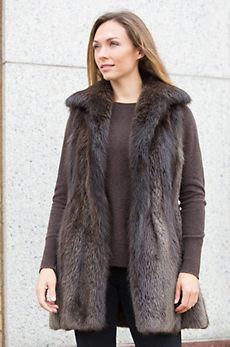 Eden Long-Haired Beaver Fur Vest