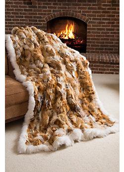 Canadian Red Fox Fur Blanket