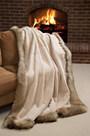 Winter Palace Sheared Beaver Fur Blanket (61 x 85 Twin)