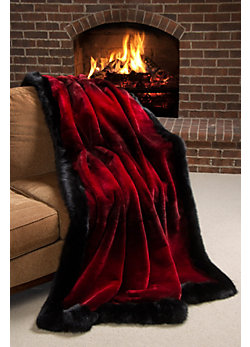 Winter Palace Sheared Beaver Fur Blanket (61 x 85 Twin)