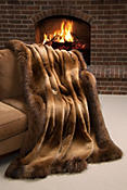 Winter Palace Sheared Beaver Fur Blanket (78 x 85 Full)