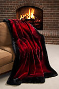 Winter Palace Sheared Beaver Fur Blanket (88 x 88 Queen)