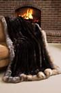 Winter Palace Sheared Beaver Fur Blanket (104 x 88 King)