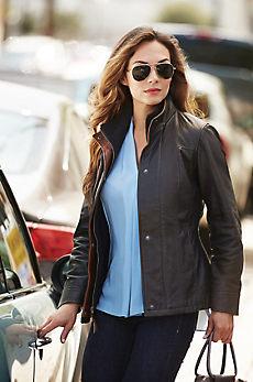 Romana II Washed Lambskin Leather Jacket