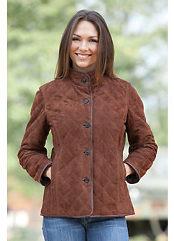 Audrey Lambskin Suede Leather Jacket