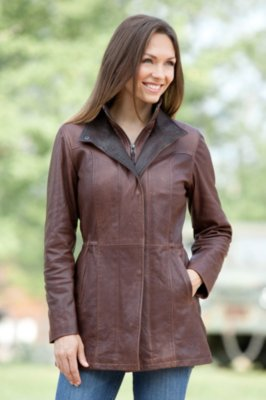 Angelina Lambskin Leather Jacket