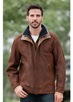 Two Rivers Goatskin Leather Jacket