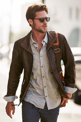 Barcelona Lambskin Leather Jacket