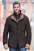 Napoli II Quilted Lambskin Suede Leather Jacket