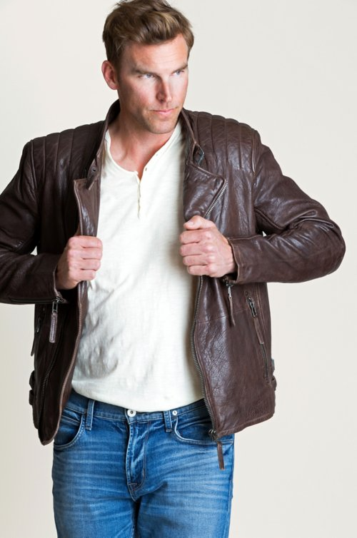 Ride Lambskin Leather Moto Jacket