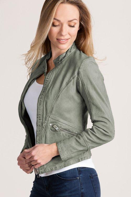 63c117dc54d Madison Washed Lambskin Leather Moto Jacket