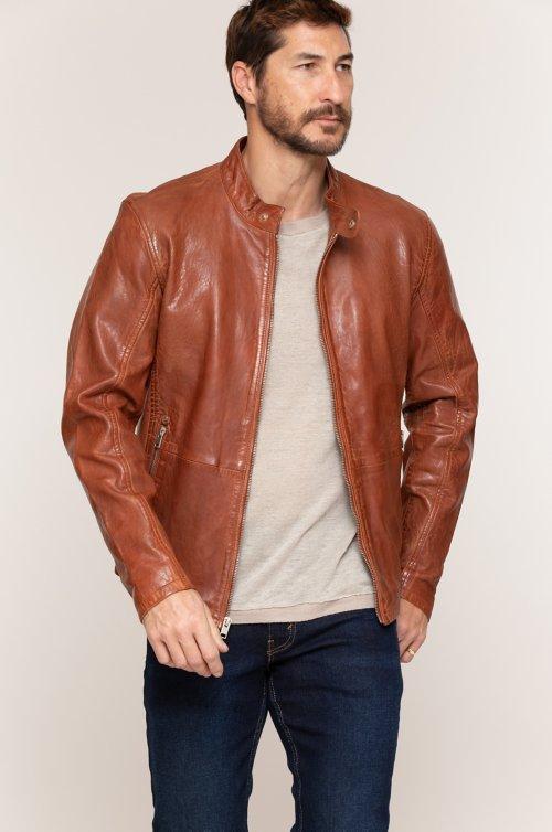 6e46f852b2b Hank Washed Lambskin Leather Moto Jacket