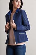 Katie Suede Lambskin Leather Jacket