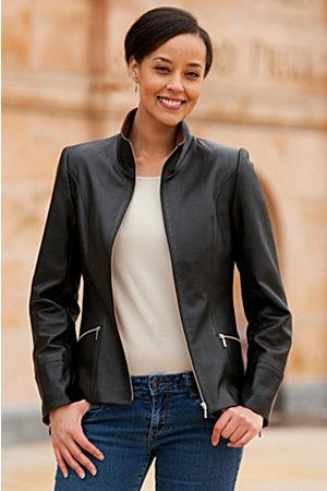 Katie Napa Lambskin Leather Jacket | Overland