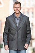Eugene Lambskin Leather Blazer