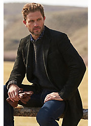 Jerry Suede Leather Blazer Walking Coat