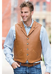 Gage Bison Leather Vest with Concealed Carry Pockets - Tall (42L - 48L)