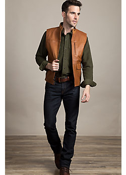 Crossroads Goatskin Leather Vest