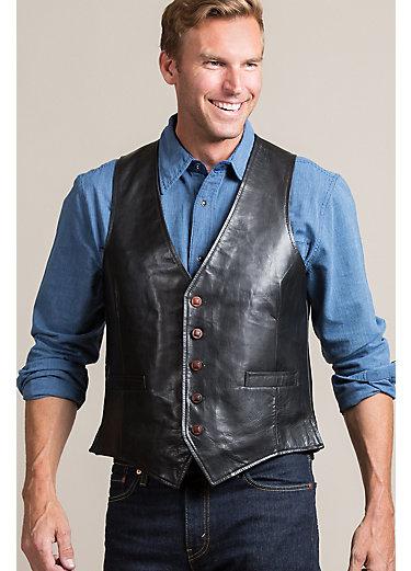 Wade Calfskin Leather Vest
