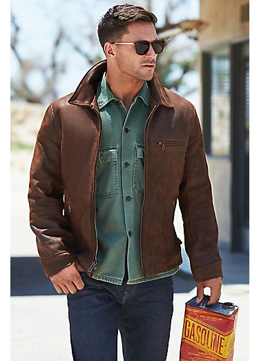 Nick Oiled Nubuck Leather Motorcycle Jacket