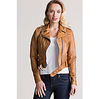 Vintage Coats & Jackets | Retro Coats and Jackets Daria Argentine Leather Moto Jacket $695.00 AT vintagedancer.com