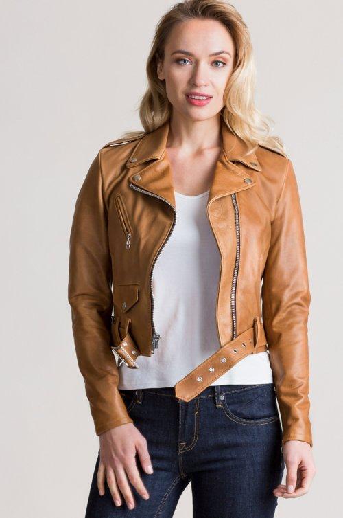 Daria Argentine Leather Moto Jacket