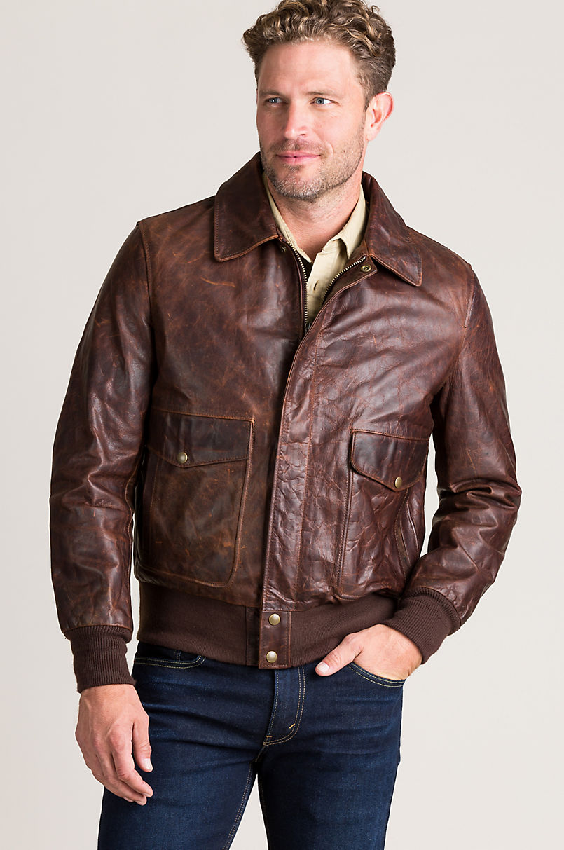 Heroes A-2 Vintage Style Leather Flight Bomber Jacket