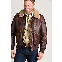 Men's Vintage Style Coats and Jackets Heroes A-2 Vintage Style Leather Flight Bomber Jacket $895.00 AT vintagedancer.com