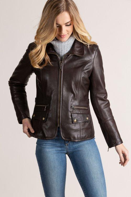 Amelia Argentine Leather Moto Jacket