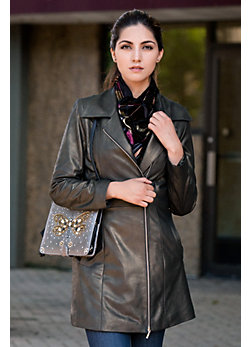 Isabella Lambskin Leather Coat
