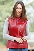 Falcon Napa Lambskin Leather Vest