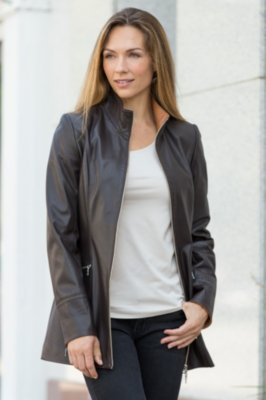 Kathlyn Lambskin Leather Jacket