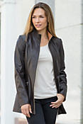Kathlyn Lambskin Leather Jacket