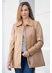 Sarah Italian Lambskin Leather Coat