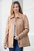Sarah Nappa Lambskin Leather Jacket