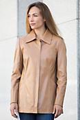 Sarah Italian Lambskin Leather Coat