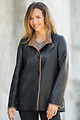 Cassandra Lambskin Leather Jacket