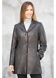 Amy Italian Lambskin Leather Coat