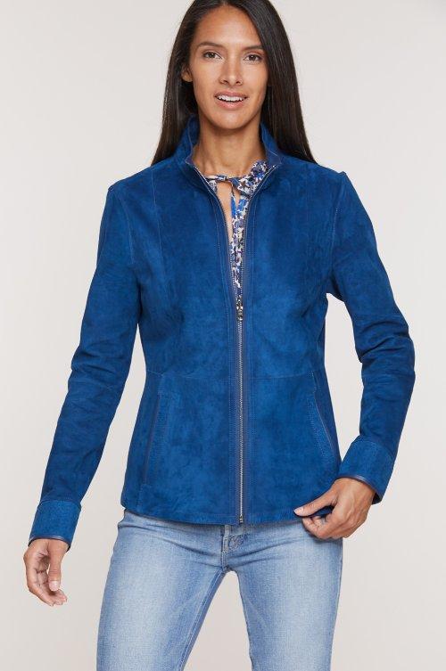 Nancy Italian Lambskin Suede Jacket
