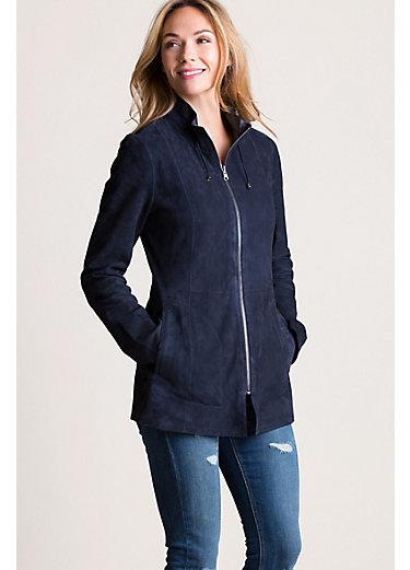 Adele Reversible Italian Lambskin Suede Jacket