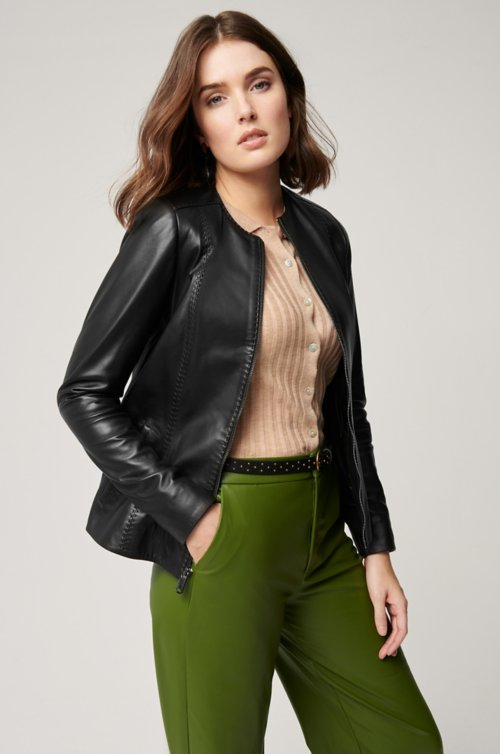 Alessandra Italian Lambskin Leather Jacket