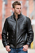 Jacob Lambskin Leather Bomber Jacket