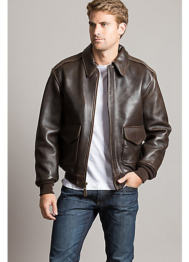 Cockpit USA Lambskin Leather A-2 Bomber Jacket