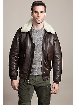 U.S. Navy G1 Calfskin Leather Bomber Jacket