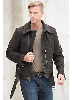 Rust American Rider Goatskin Leather Motorcycle Jacket