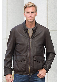 Armored Division Commander Cowhide Leather Bomber Jacket