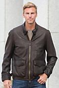 Cockpit USA Armored Division Commander Leather Bomber Jacket